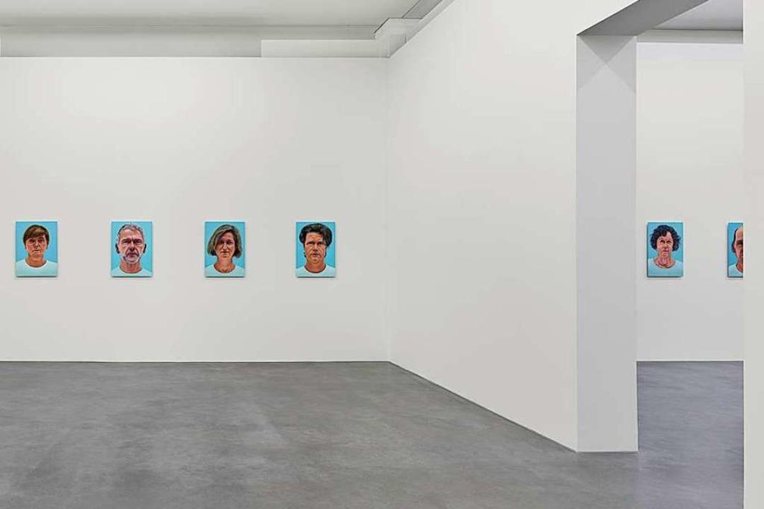Formal stets gleich: Porträts von Thomas Kitzinger  | Foto: Bernhard Strauss