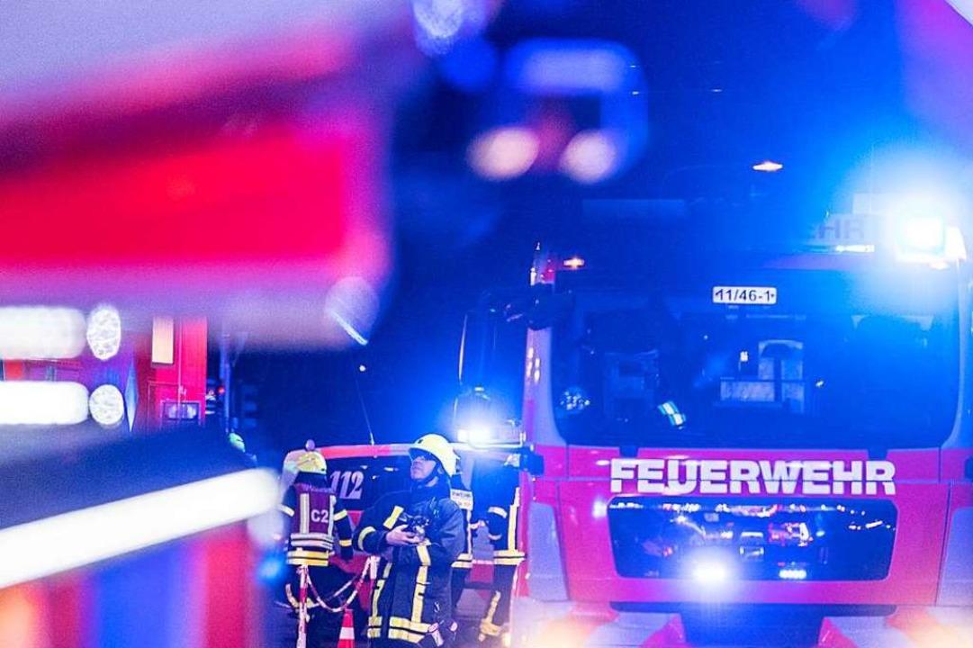 Großeinsatz der Feuerwehr in Triberg (Symbolbild).    Foto: Boris Roessler (dpa)