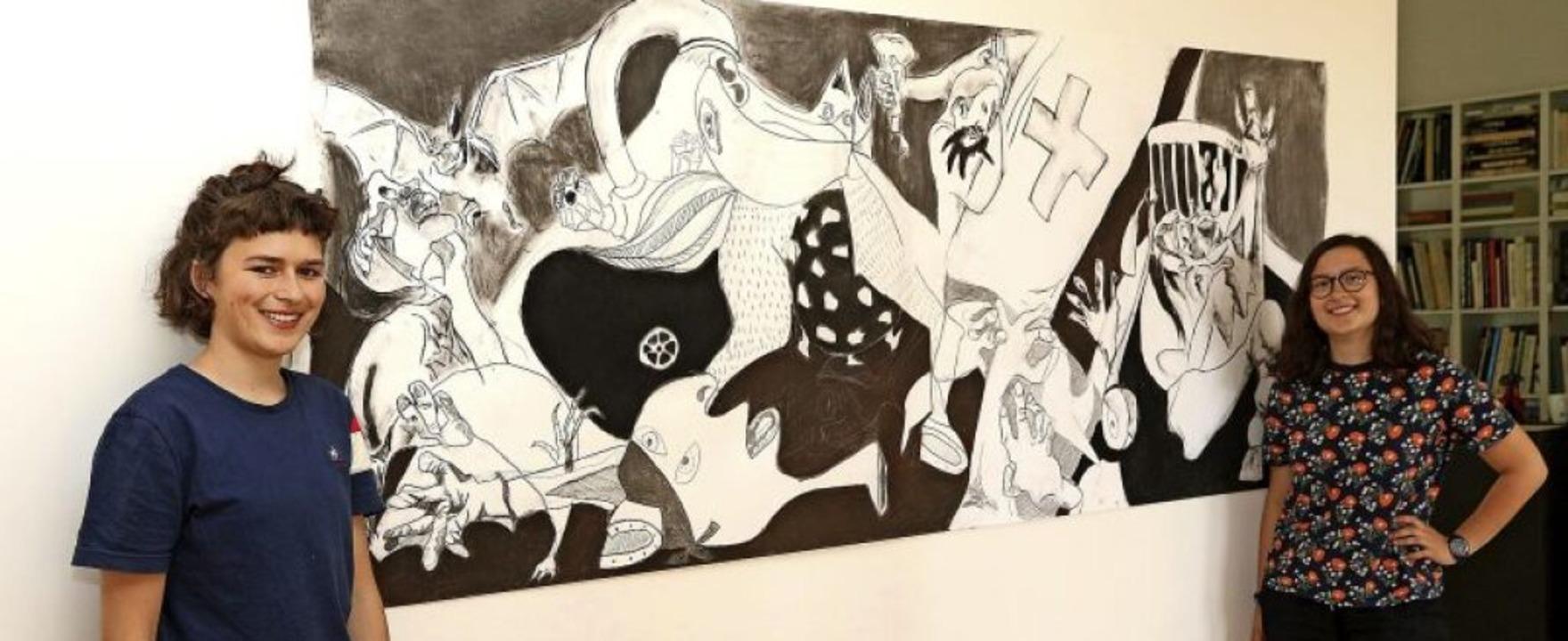 """Coronica"" heißt dieses Ar...an ""Guernica"" von Picasso.  | Foto: Peter Heck"