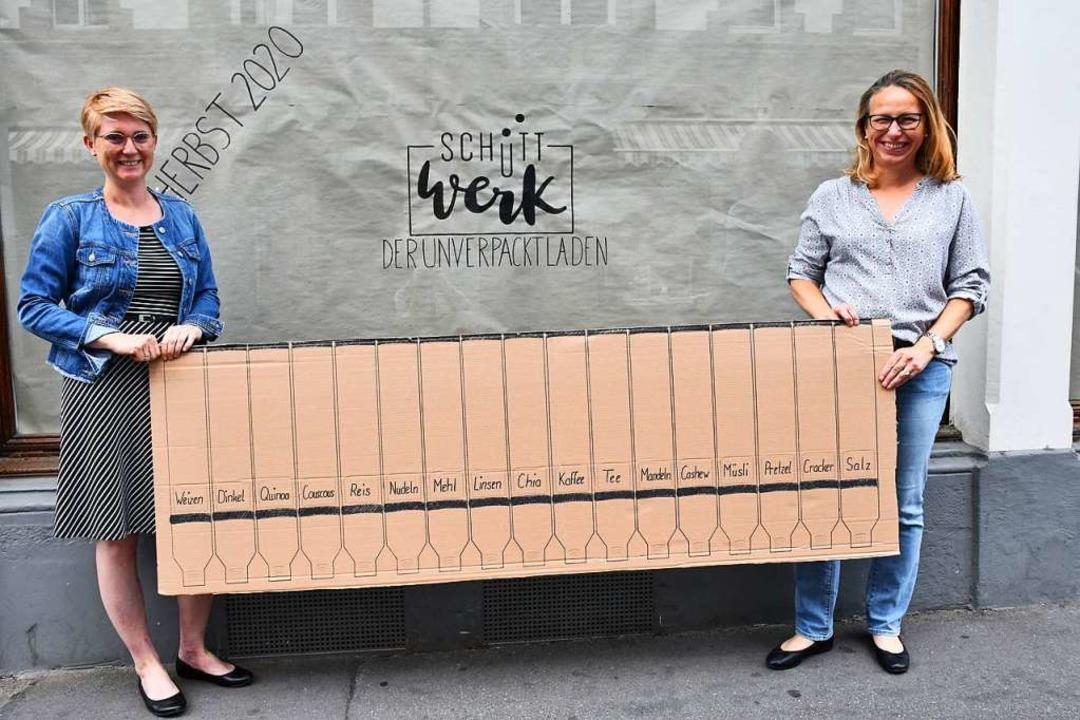 Wider den Verpackungswahn: Evelyne Lie...Straße den Unverpacktladen Schüttwerk.  | Foto: Barbara Ruda