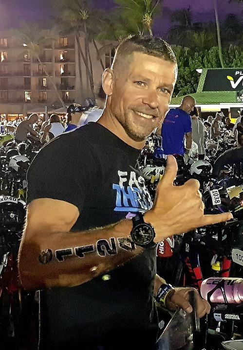 Start bei einem Ironman wie auf Hawaii...22 rechnet Jochen Burkart nicht damit.  | Foto: privat