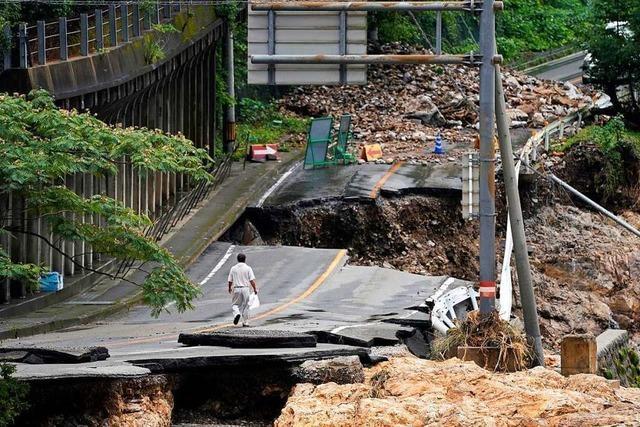 Mindestens 50 Tote bei Unwettern in Japan