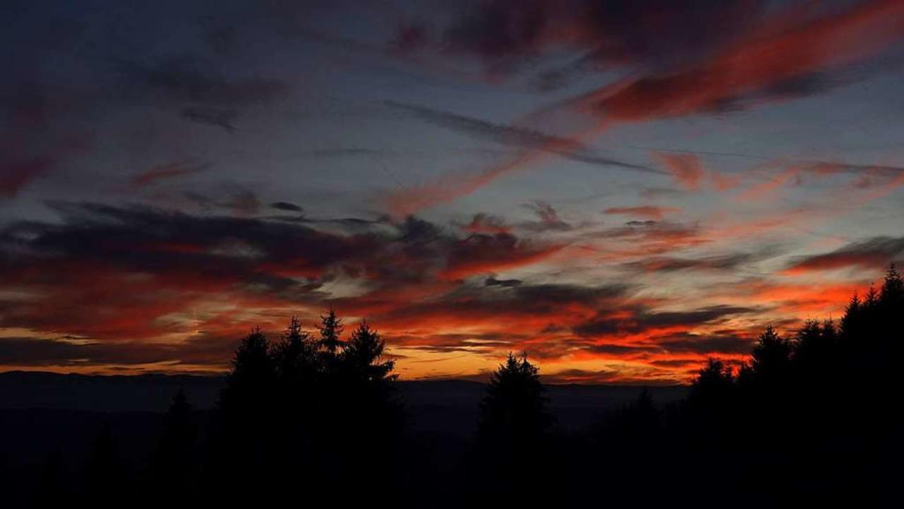 Sonnenuntergang bei Schweigmatt.  | Foto: Bernd Tammer