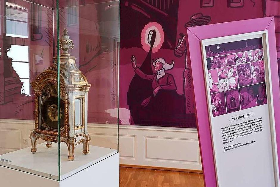 Eine Stutzuhr mit Weckfunktion von 1790 spielt in den Erinnerungen von Giacomo Casanova an die Verführung einer Venezianischen Nonne eine Rolle. (Foto: Ralf Burgmaier)