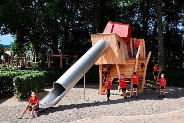 Staufen hat einen neuen Spielplatz – der von einem Goethe-Zitat inspiriert wurde