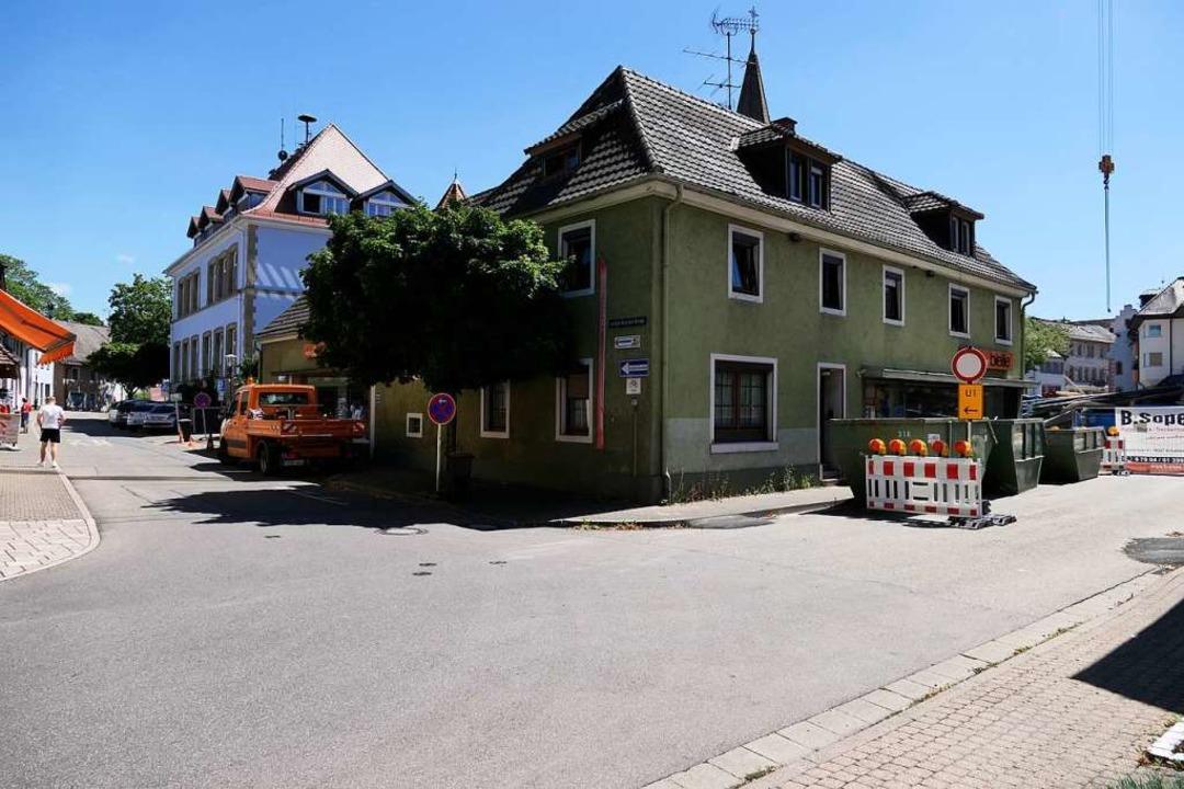 Der Bereich ums Bleile-Haus wird in die Planungen mit einbezogen.  | Foto: Hans-Peter Müller