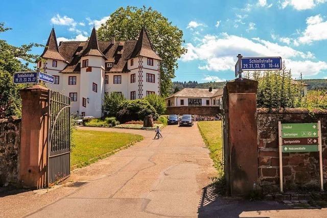 Das neue Pflaster im Schmieheimer Schlosspark wird gelb-rot