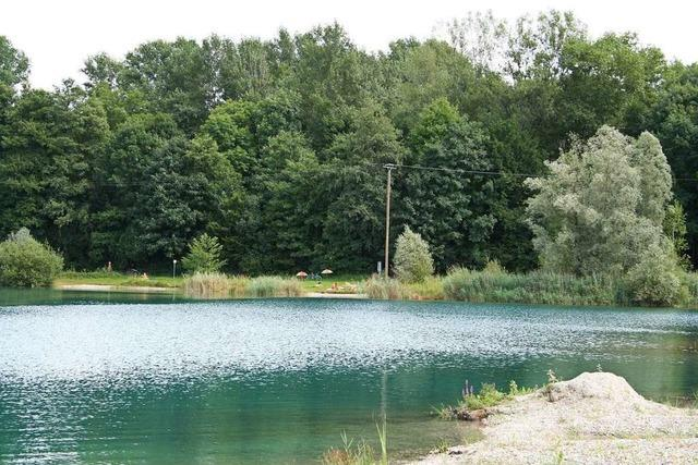 Exhibitionist am Baggersee in Nonnenweier