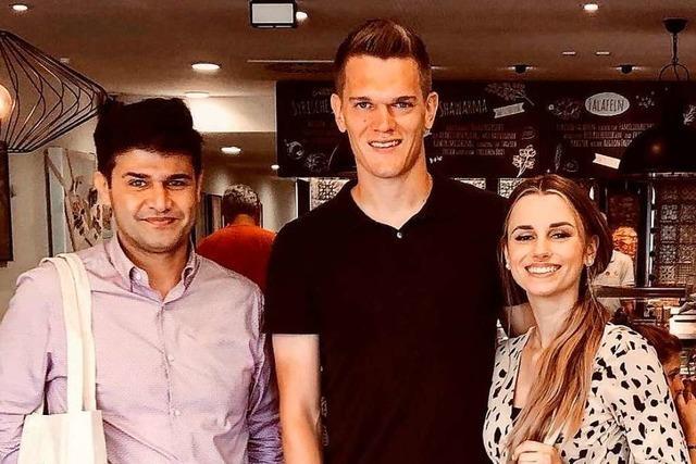 Ex-SC-Spieler Matthias Ginter macht am Donnerstag bei Damasko's Falafel