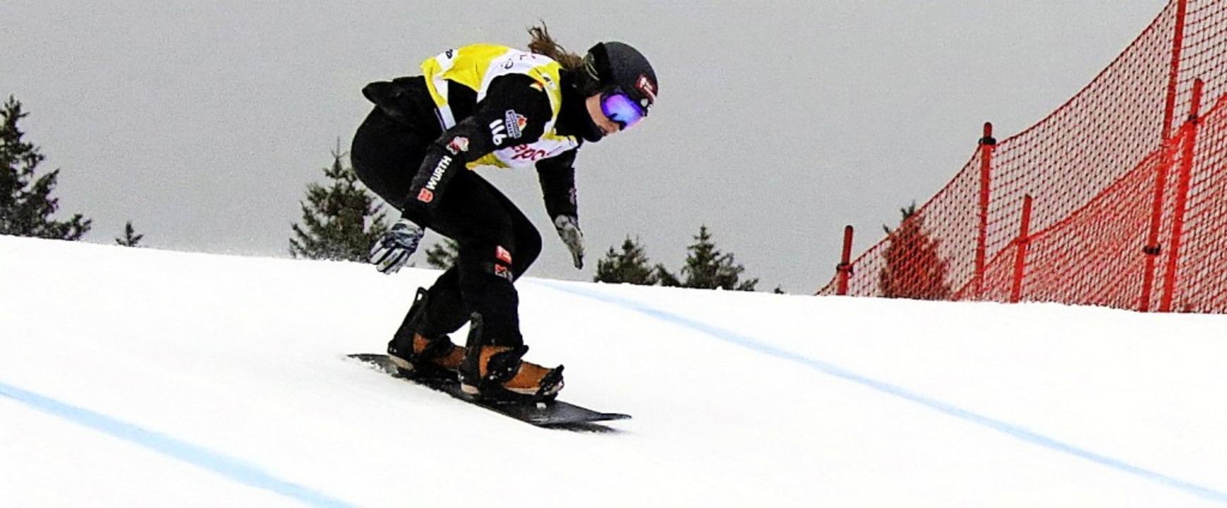 Dynamisch am Seebuck: Jana Fischer vom...s-Weltcup im Februar 2019 auf Rang 16.  | Foto: Joachim Hahne