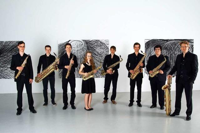 Freiburger Saxophonensemble in der Zehntscheuer