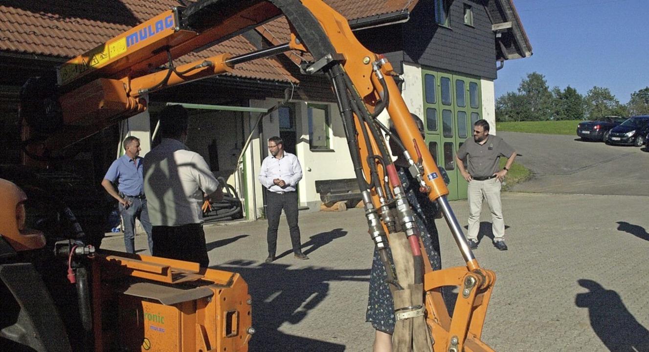 Vor der jüngsten Gemeinderatssitzung a...rpark der Gemeinde informiert wurden.   | Foto: Karin Stöckl-Steinebrunner