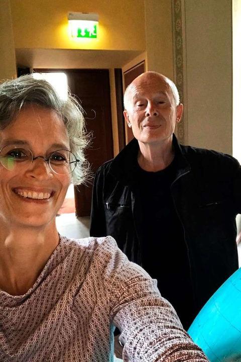 Selfie in Potsdam: Annika Kirschke und Hans  Joachim Schellnhuber  | Foto: Privat