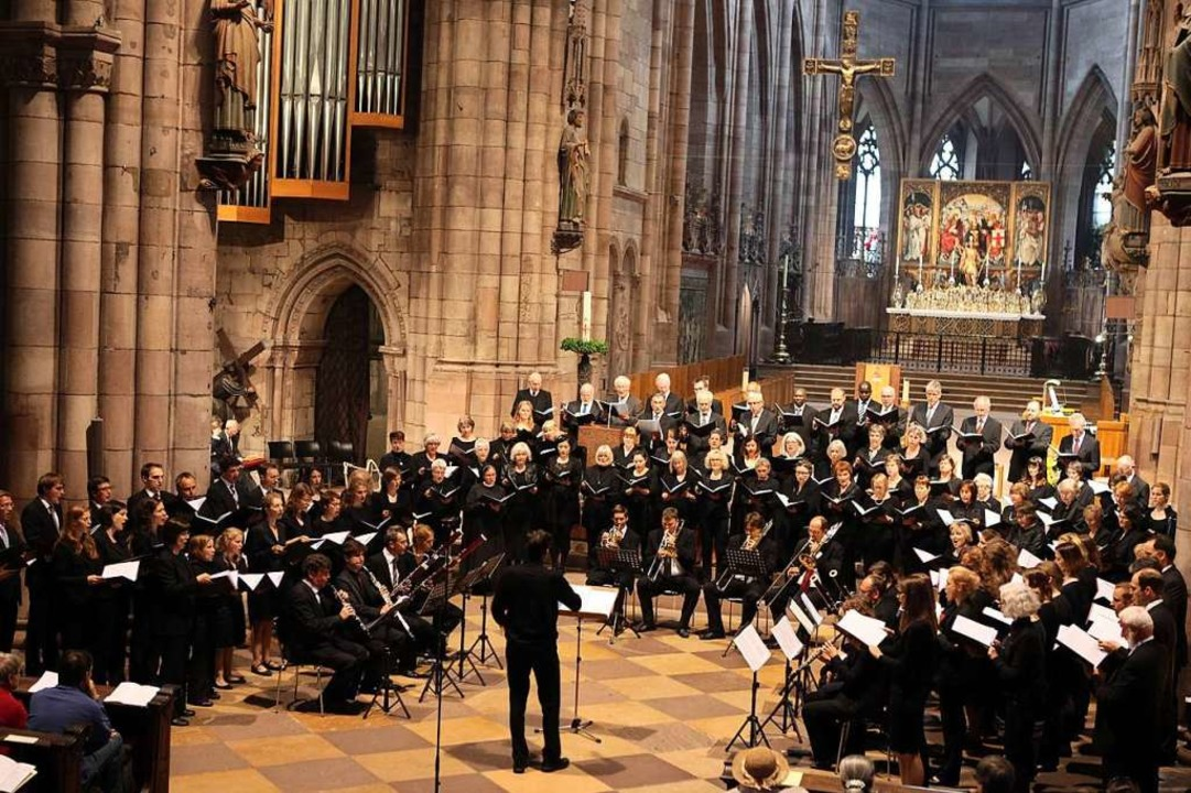 Wann wird es jemals wieder so etwas ge...rt der Dommusik im Freiburger Münster?    Foto: Benedikt Plesker