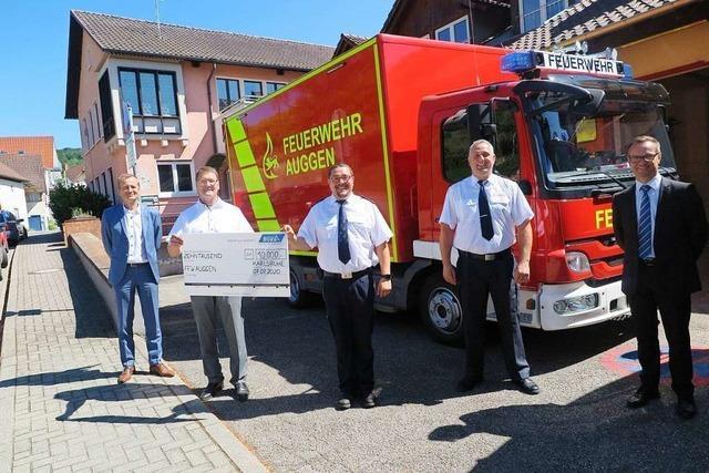 Feuerwehr Auggen bekommt 10.000 Euro für neue Atemschutzgeräte