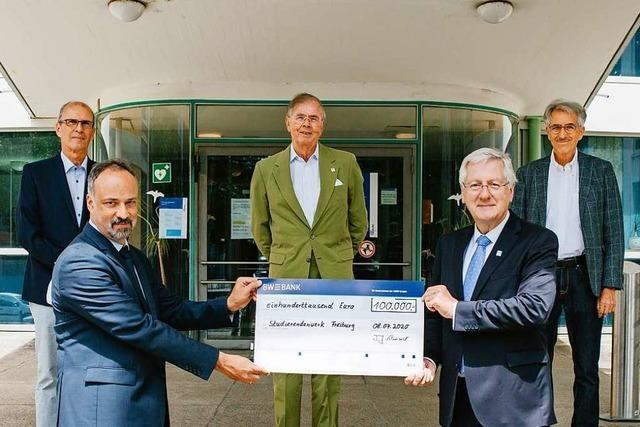 Institutionen spenden 100.000 Euro für die Studierenden-Nothilfe der Uni Freiburg