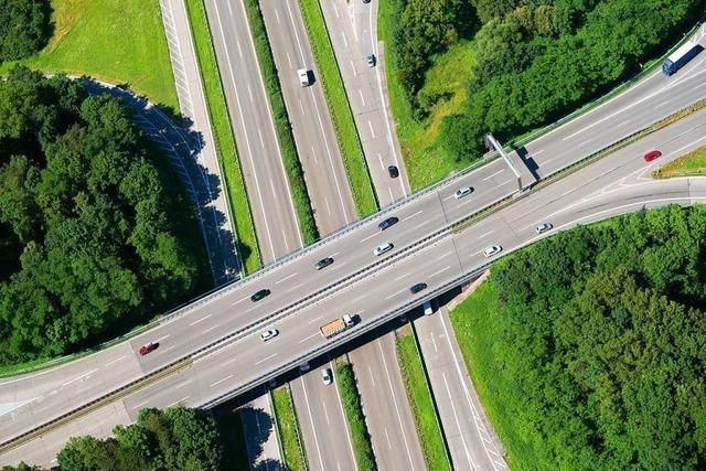 Gefahr für den Verkehr: Bäume an der A5 bei Freiburg werden gefällt