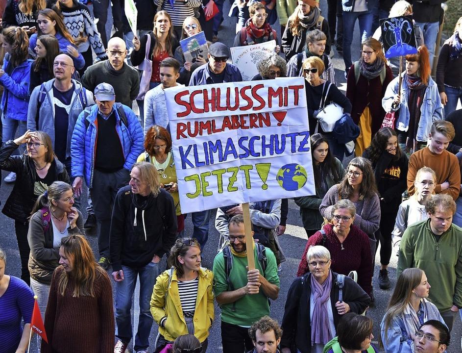 """Das Klimaforum """"Weitwurf"""" ...ation in Freiburg im vergangenen Jahr.    Foto: Rita Eggstein"""