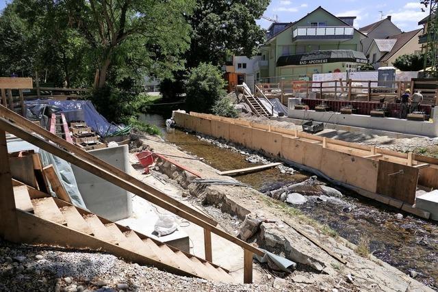 Der Bau der neuen Bernhardusbrücke ist im Zeitplan