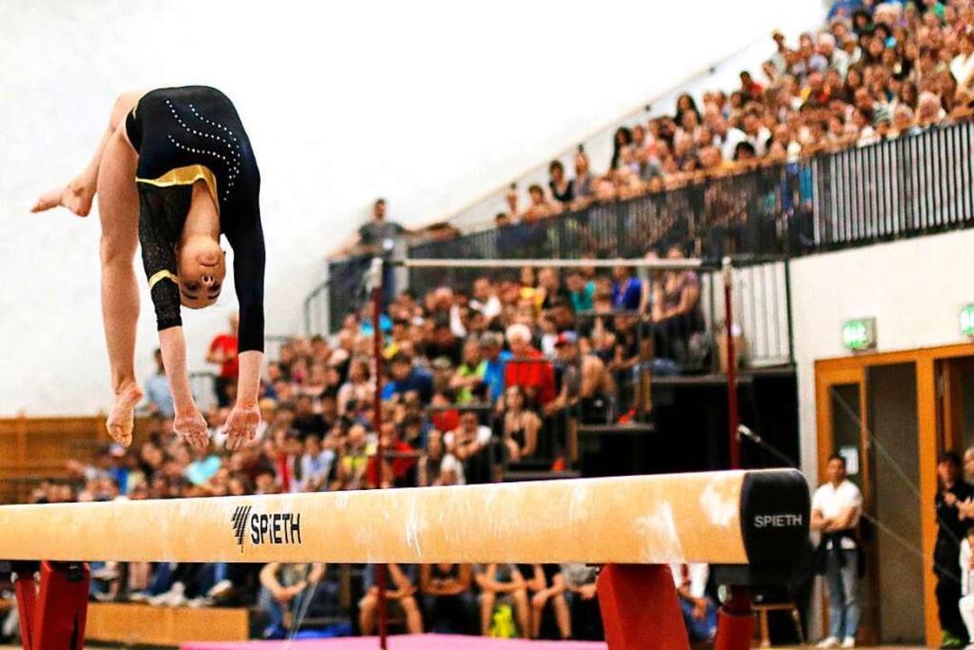 2014 zeigten Sportlerinnen und Sportle...Landesturnfest in Freiburg ihr Können.  | Foto: Linn-Marie Hahn