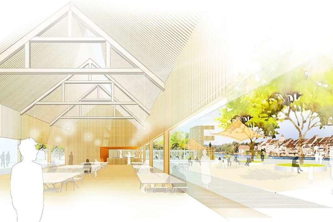 Noch sehr transparent präsentiert sich...üros Schaudt Architekten aus Konstanz.  | Foto: Schaudt Architekten und w+p Landschaften