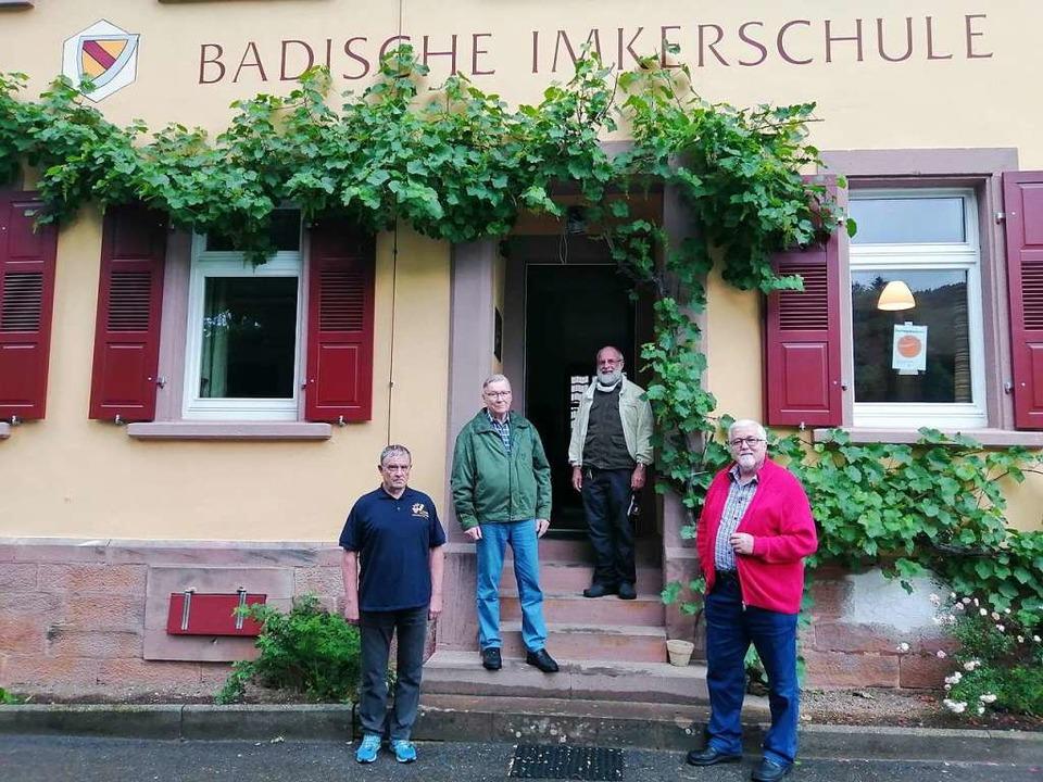 Die Protagonisten der Badischen Imkers...-Köllhofer, Präsident Klaus Schmieder.  | Foto: Winfried Köninger
