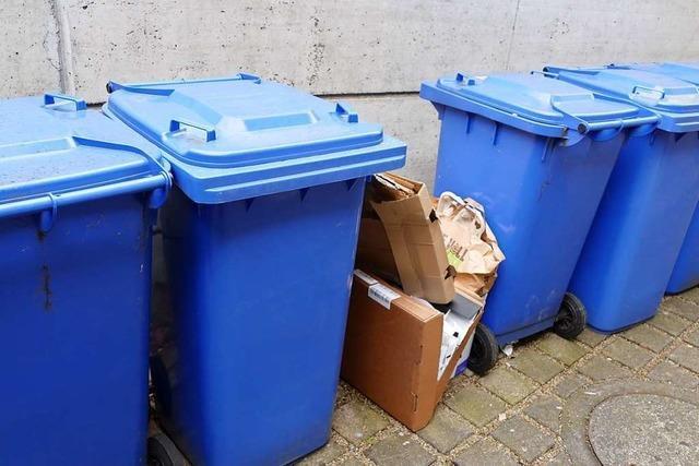Abfallwirtschaft rechtfertigt Informationspolitik bei der Blauen Tonne