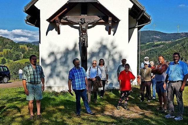 Sogar Kinder haben Steine zur Baustelle der Kapelle Maria Frieden geschleppt