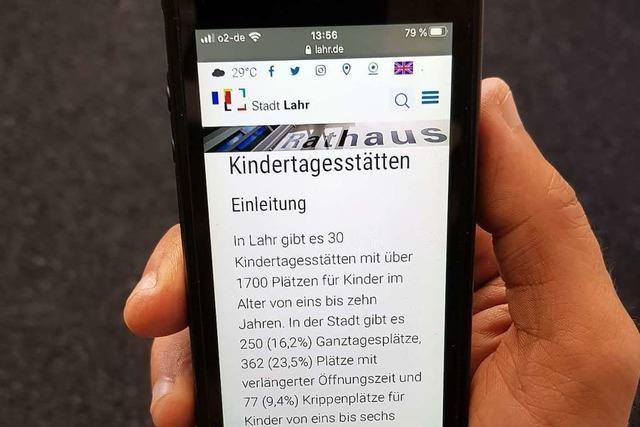 Für städtische Kindertagesstätten in Lahr ist eine Smartphone-App geplant