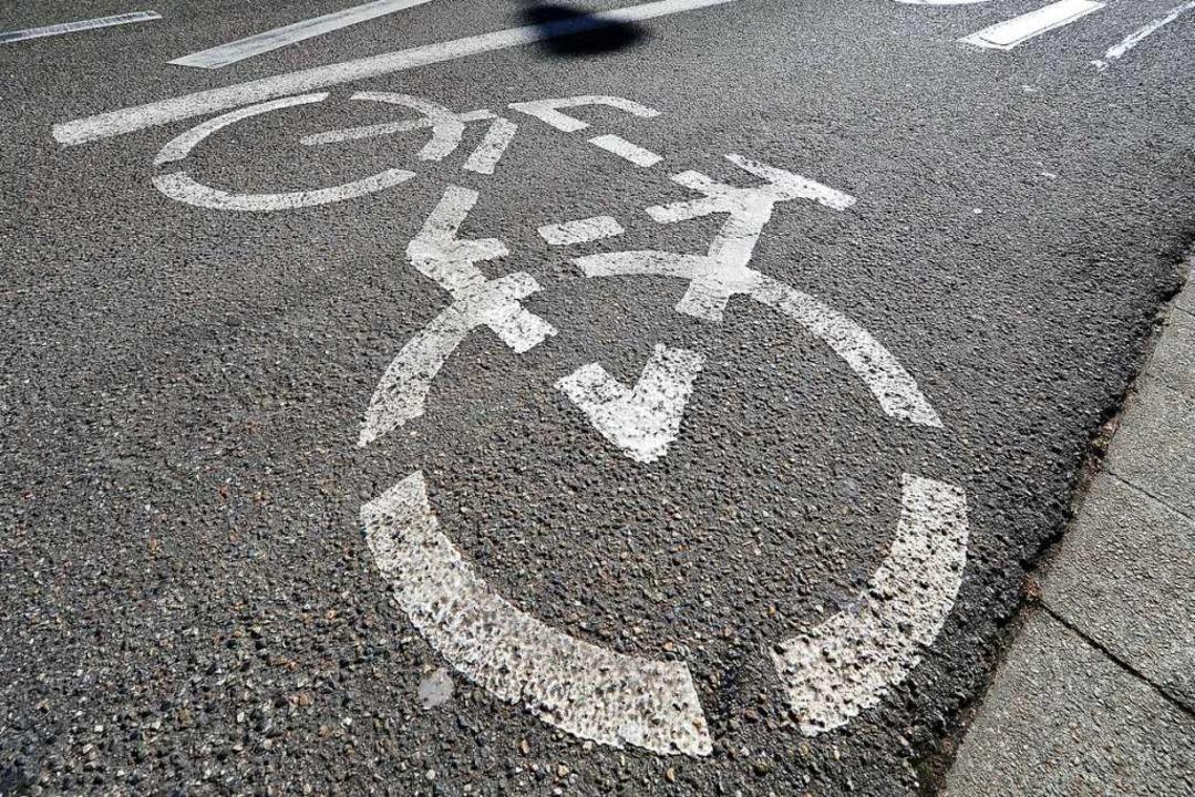 Unbekannte haben Fahrrad-Piktogramme a...lles Piktogramm zu sehen (Symbolbild).    Foto: Thomas Kunz