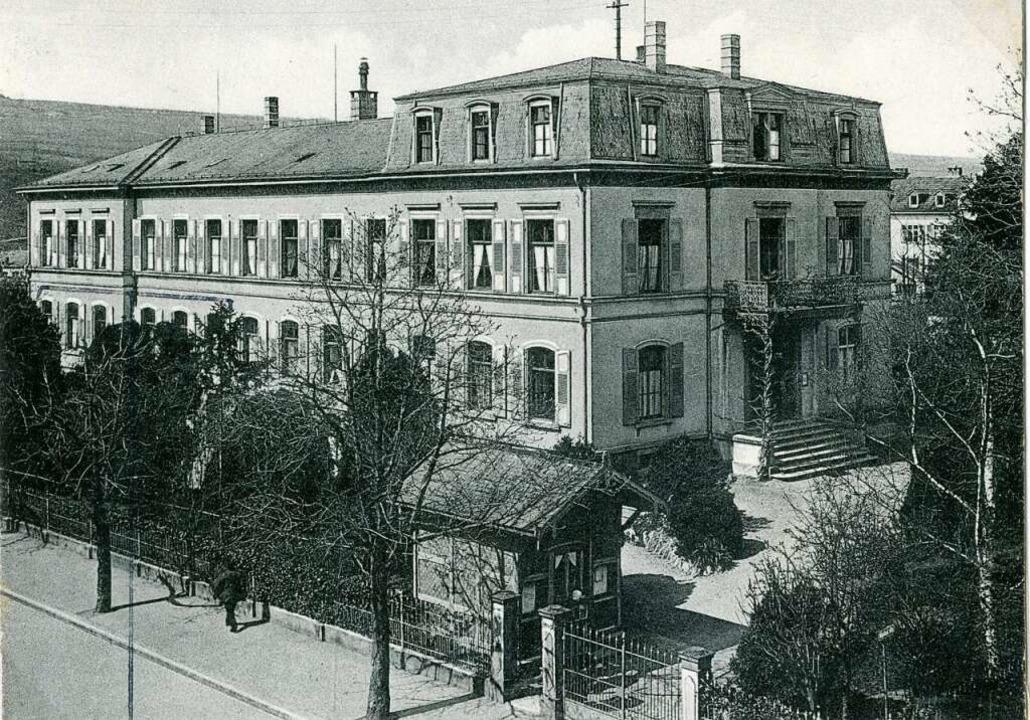 Das Städtische Krankenhaus  Lörrach in den 1940er Jahren  | Foto: Stadtarchiv Lörrach