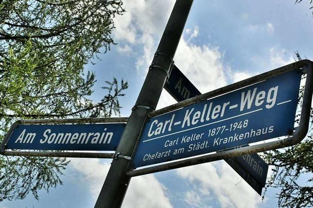 Nach dem NS-Mediziner Carl Keller ist in Lörrach eine Straße benannt