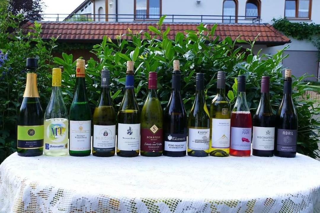 Diese zwölf Weine und Sekte werden in ...n Online-Wein-Fass-Bar zu finden sein.  | Foto: Gerold Zink