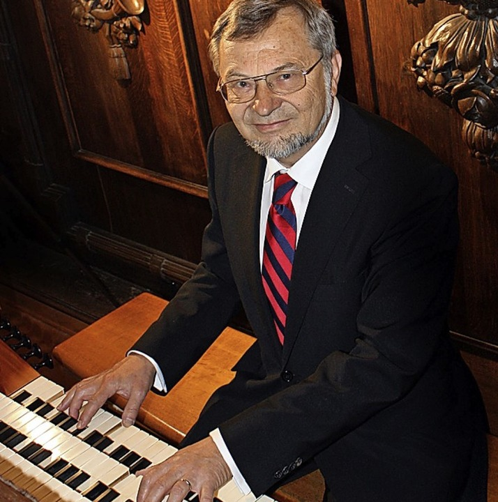 Bernhard Marx, künstleische Leitre der...elt am 14. Juli selbst auf der Orgel.   | Foto: Lutz Franz