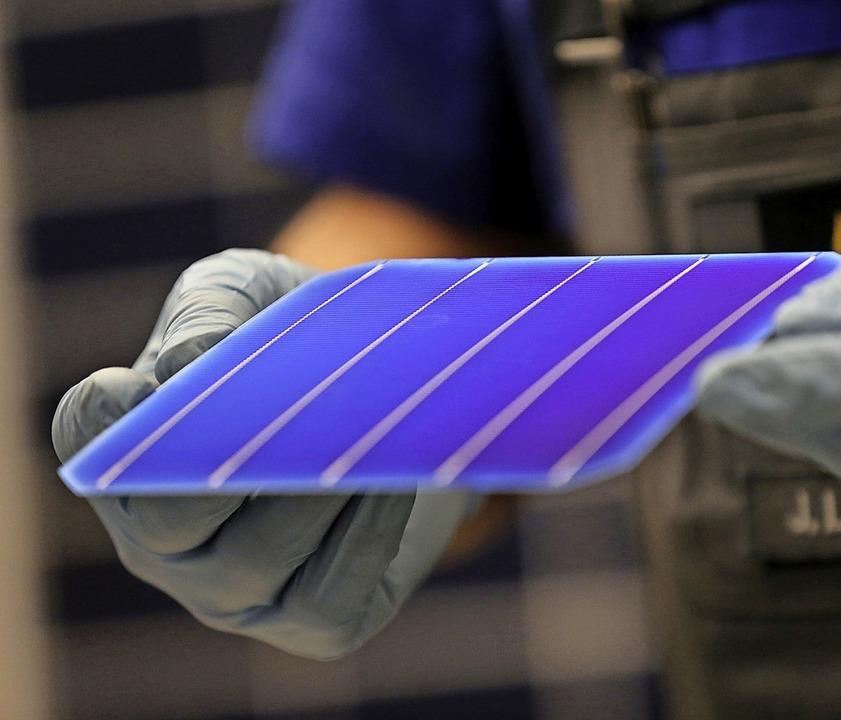 Hoffnungsträger  der erneuerbaren Energieversorgung –  Solarzellen  | Foto: Jan Woitas (dpa)