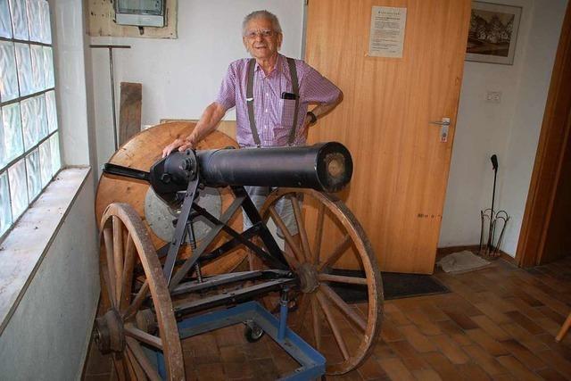 Er ist in Rheinfelden-Herten der Herr der Kanone
