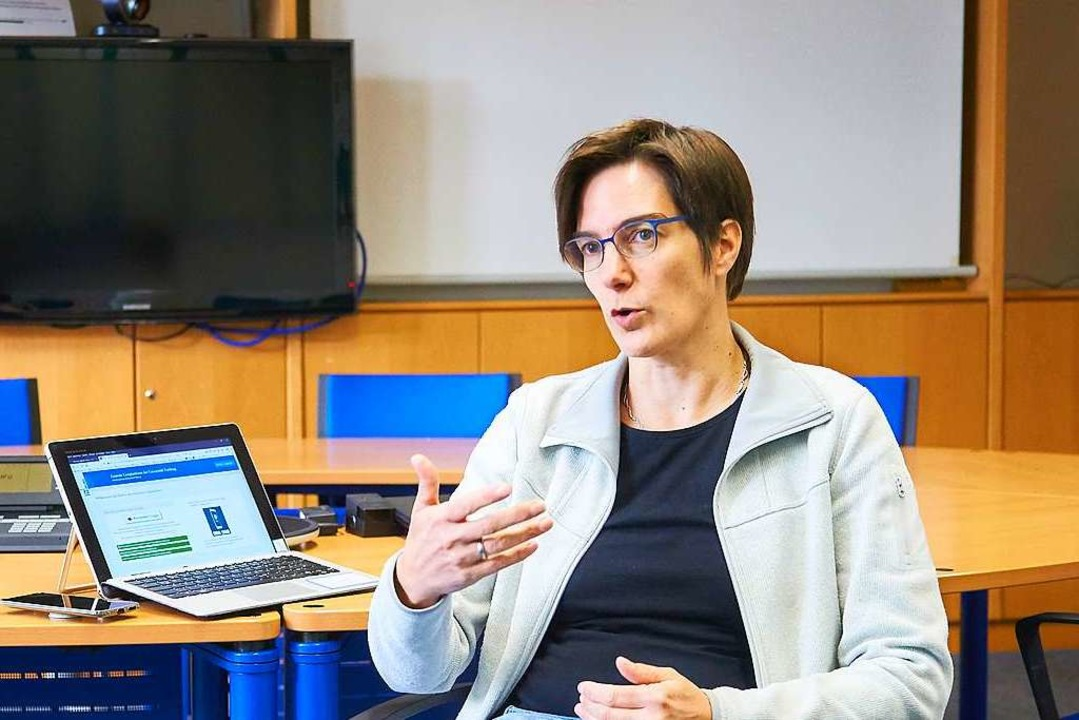 Nicole Wöhrle ist Leiterin der Servicestelle E-Learning der Uni Freiburg    Foto: Harald Neumann/Universität Freiburg