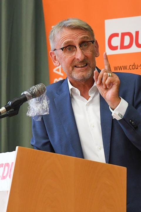 Impressionen aus der Nominierungsversa... Wahlkreis Lörrach-Müllheim in Auggen.    Foto: Michael Kienzler