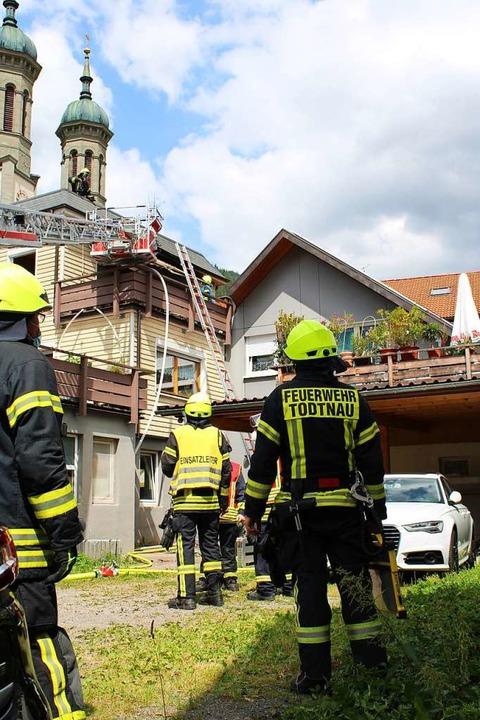 Das Feuer war auf einem Balkon ausgebrochen.  | Foto: Manuel Hunn