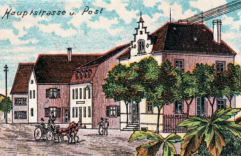 Rechts das Kaiserliche Postamt mit dem...lefon- und Stromleitungen auf dem Dach  | Foto: privat