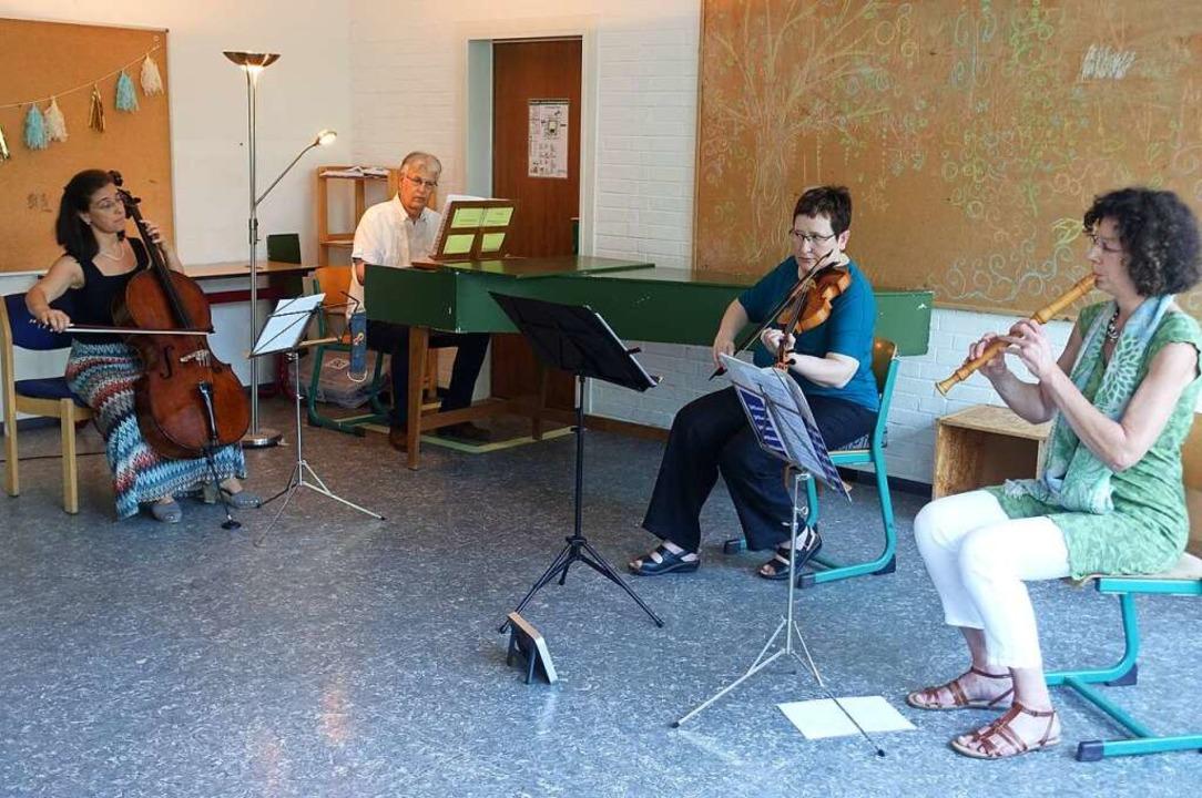 Zum Kammermusik-Ensemble formierten si...öte beim Wandelkonzert der Musikschule  | Foto: Roswitha Frey