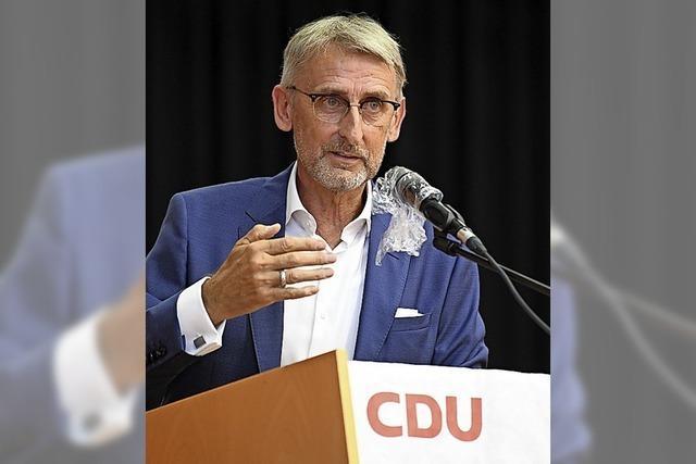 CDU kürt Armin Schuster mit 98 Prozent zum Bundestagskandidaten