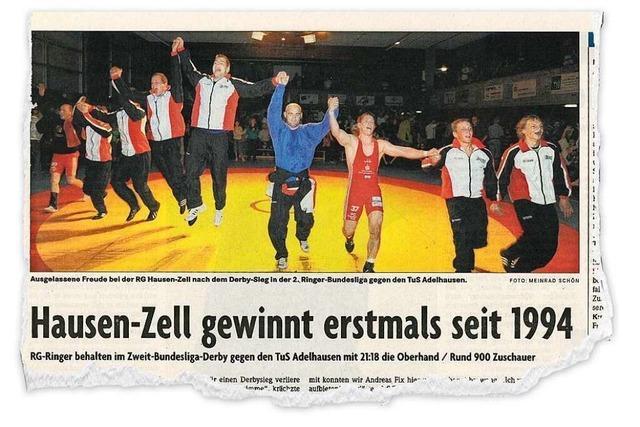 Als die RG Hausen-Zell ihren letzten Derbysieg gegen den TuS Adelhausen feierte