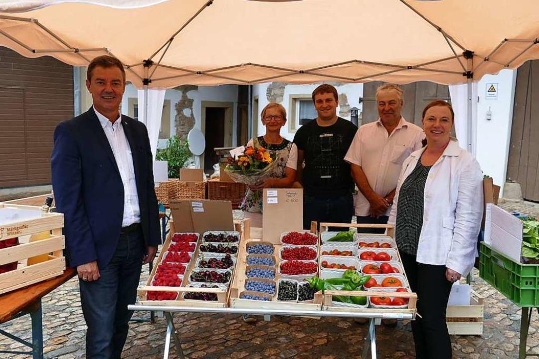 Familie Müller bietet auf dem Vierseit...chaftsförderin Nicole Riße-Hasenkamp.   | Foto: Frank Schoch