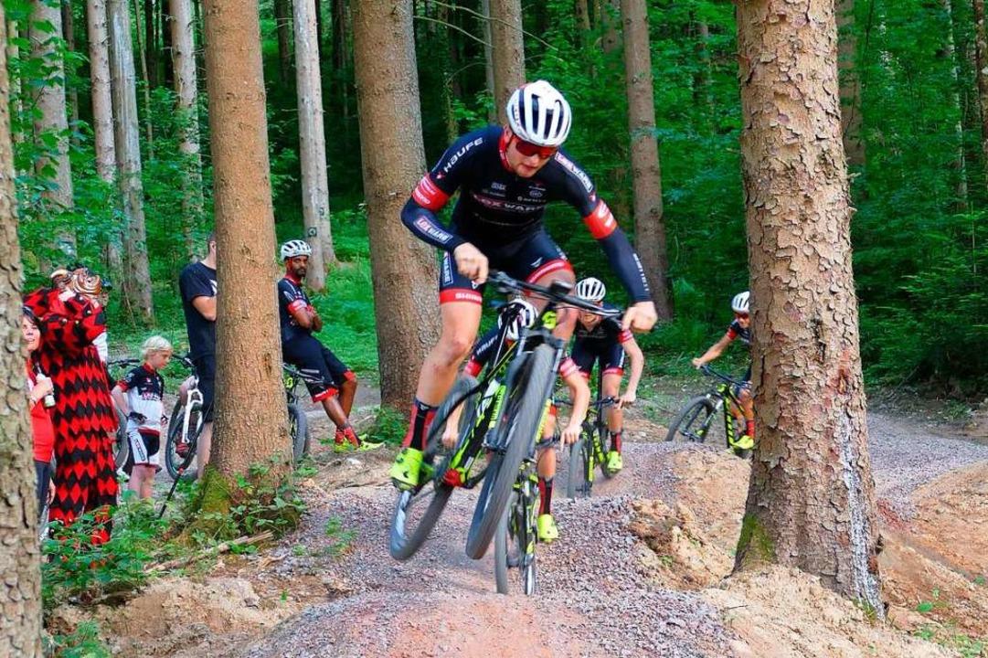 Mountainbiker auf einer  Tour durch die Wälder     Foto: Markus Donner