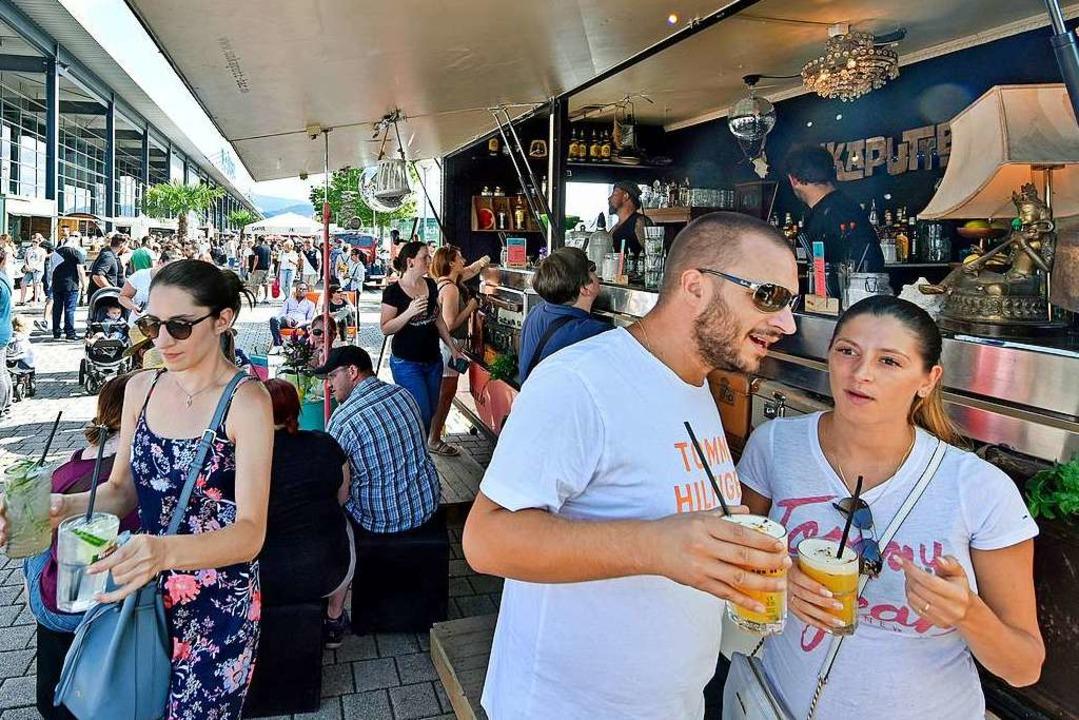 Street-Food-Market vor einem Jahr auf ... wird er anders ablaufen (Archivbild).  | Foto: Michael Bamberger