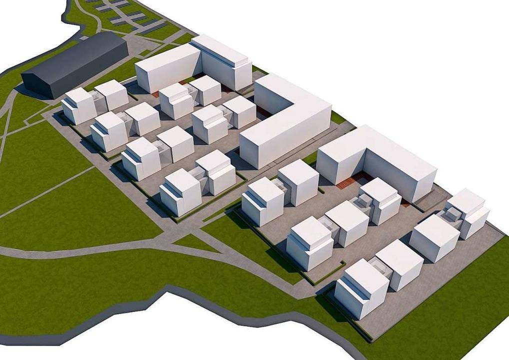 So soll die neue Powercloud-Firmenzentrale in Achern einmal aussehen.     Foto: Powercloud