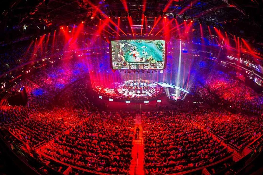 E-Sport begeistert Millionen Menschen,... wohl noch für längere Zeit undenkbar.    Foto: Paul Zinken