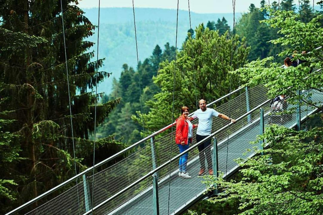 Über dem Todtnauer Wasserfall soll 202...ch einer Brücke in Bad Wildbad (Foto).  | Foto: Nico Pudimat