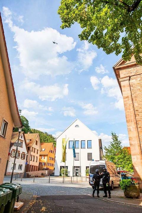 Ein ungewohntes Bild: Über Oppenau, so...us der Stadt mit fast 5000 Einwohnern.  | Foto: Philipp von Ditfurth (dpa)